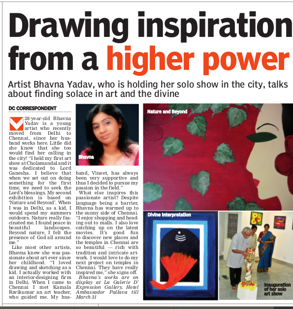 Deccan Chronicle Coverage March 20th, 2013